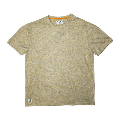 Linen-Look Short Sleeve Tee // Yellow (S)