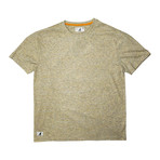 Linen-Look Short Sleeve Tee // Yellow (M)