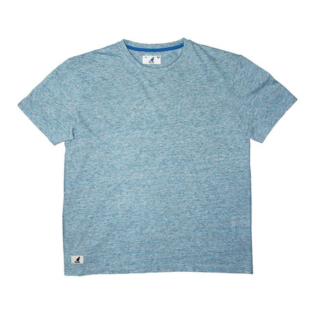 Linen-Look Short Sleeve Tee // Sea Blue (S)
