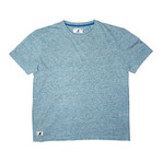 Linen-Look Short Sleeve Tee // Sea Blue (M)