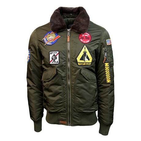 Flying Cadet Jacket V1 // Olive (XS)