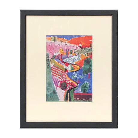 David Hockney // // Nichols Canyon // 1985 Offset Lithograph