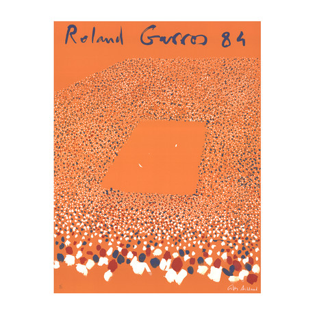 Gilles Aillaud // Roland Garros French Open // 1984 Lithograph // SIGNED