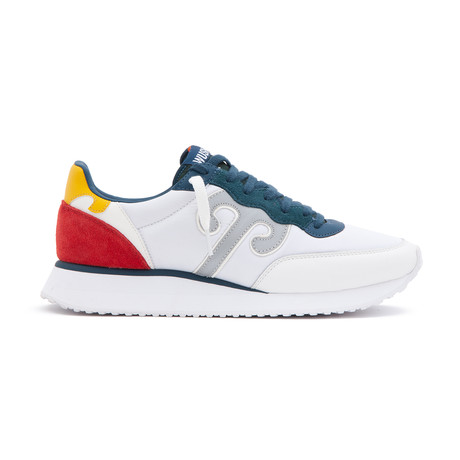 Master M60 Sneaker // White + Blue + Red (Euro: 36)