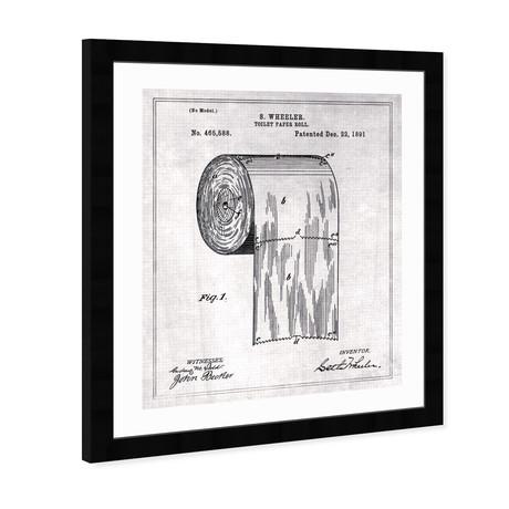 """Toilet-Paper Roll 1891 (20""""H x 17""""W x 0.5""""D)"""