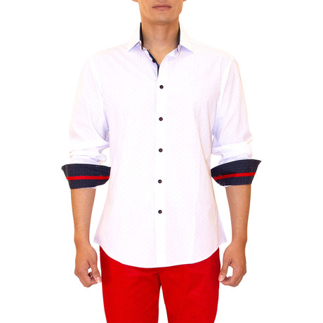 Agatha Long Sleeve Button Up Shirt // White (XS)