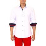 Agatha Long Sleeve Button Up Shirt // White (XS)