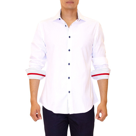 Kyler Long Sleeve Button Up Shirt // White (XS)