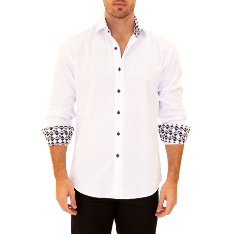Louis Long Sleeve Button Up Shirt // White (XS)