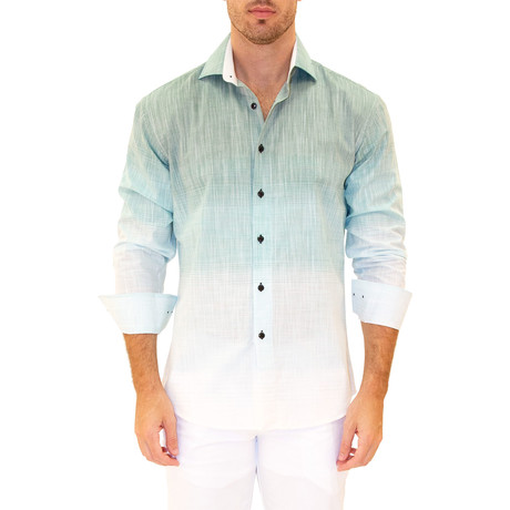 Ombre Shirt // Green (XS)