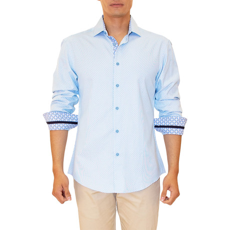 Scot Long Sleeve Button Up Shirt // Turquoise (XS)