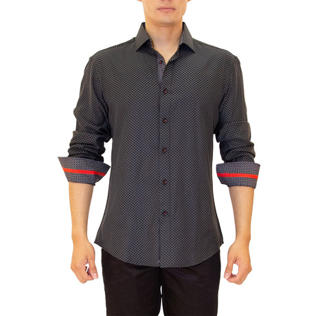 Kyler Long Sleeve Button Up Shirt // Black (XS)