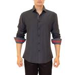 Kyler Long Sleeve Button Up Shirt // Black (S)