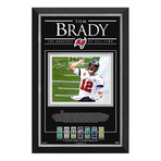 Tom Brady // Tampa Bay Buccaneers // Facsimile Signed Photo Display