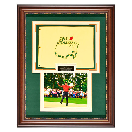 Tiger Woods // 2019 Masters Flag // Collectible Display