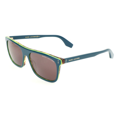 Unisex 393-S ZI9 Sunglasses // Transparent Teal + Teal