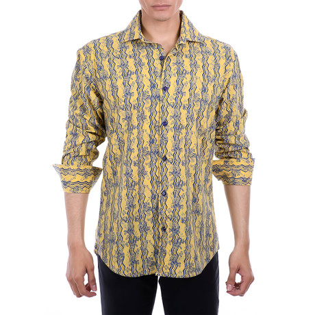 Walker Long Sleeve Button Up Shirt // Yellow (XS)
