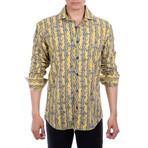 Walker Long Sleeve Button Up Shirt // Yellow (M)