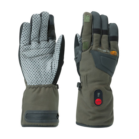 Heated Waterproof Gloves Convertible Finger // Black (X-Small)