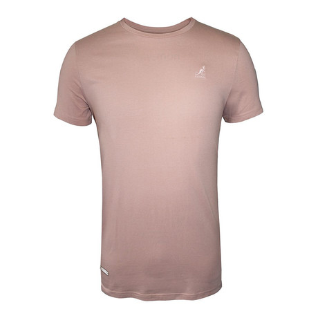 Tonal Embroidered Logo Fashion Tee // Crème De Rose (S)
