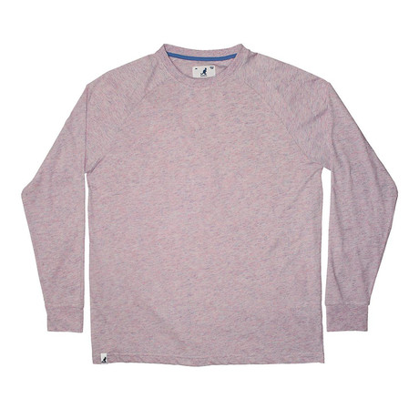 Rain Drop Yarn Long Sleeve T-shirt // Pink (S)