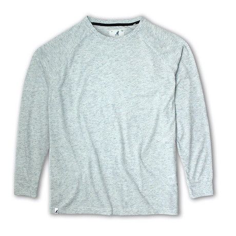 Rain Drop Yarn Long Sleeve T-shirt // Gray (S)