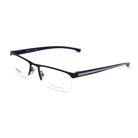 Men's 878-0J4 Optical Frames // Matte Blue Crystal