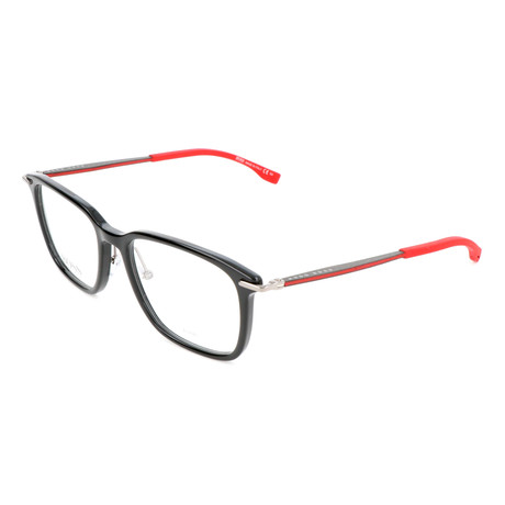 Men's 0950-F-OIT Optical Frames // Shiny Black + Red + Gold