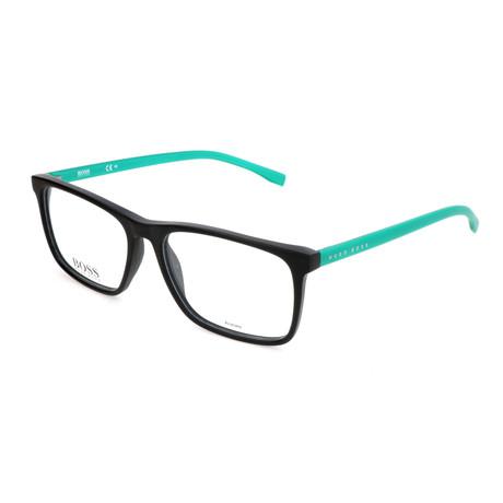 Men's 764-RJR Optical Frames // Matte Black + Metalized Green