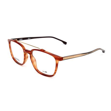 Men's 1049-EX4 Optical Frames // Brown Horn