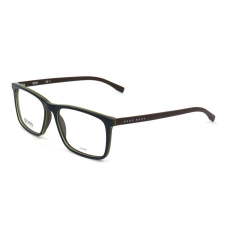Men's 764-QHU Optical Frames // Matte Light Brown + Pearled Burgundy