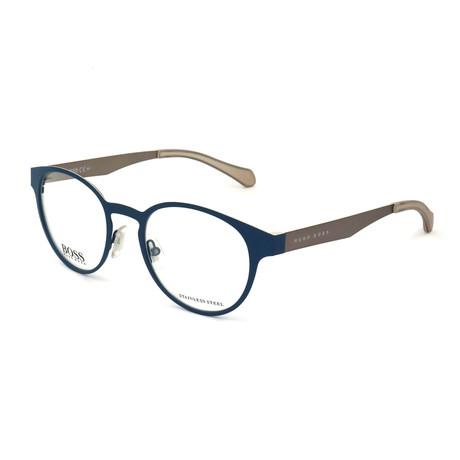 Men's 872-05Q Optical Frames // Matte Blue + Matte Ruthenium