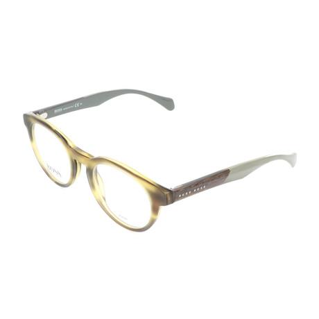 Men's 913-1K5 Optical Frames // Horn Crystal Green