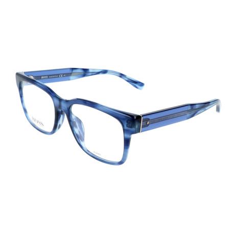 Men's 0756-F-K94 Optical Frames // Havana Blue