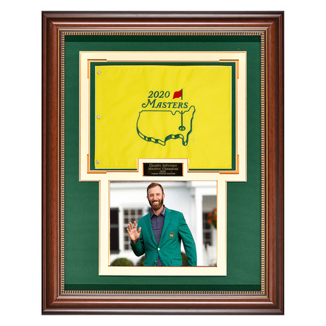 Dustin Johnson // 2020 Masters Flag // Collectible Display