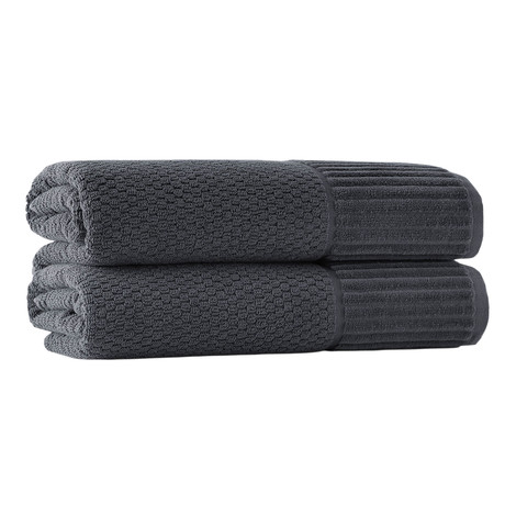 Timaru Bath Sheets // Set of 2 (Anthracite)