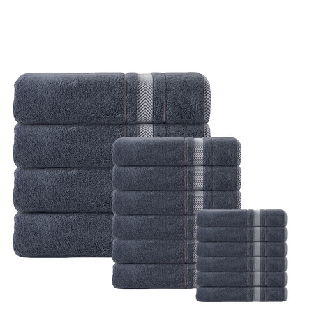Enchasoft Towels // Set of 16 (Anthracite)