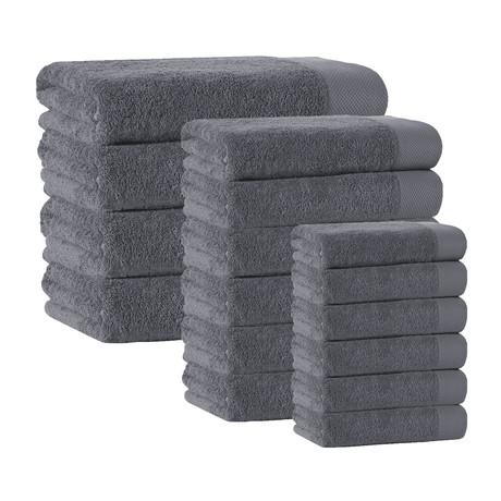 Signature Towels // Set of 16 (Anthracite)