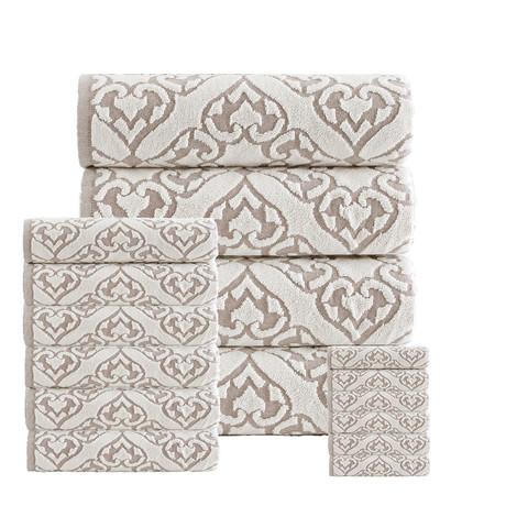 Gonzales Towels // Set of 16 (Beige)
