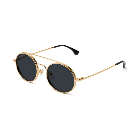 Unisex 50-50 Sunglasses // Black + Gold