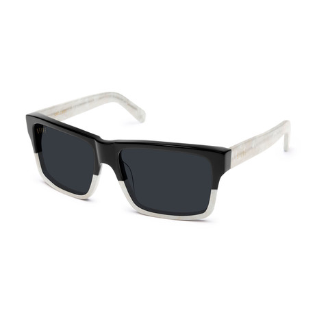 Men's Caps Sunglasses // Black + White Marble