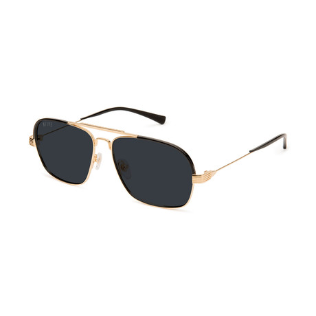 Unisex Avian Sunglasses // Black + Gold