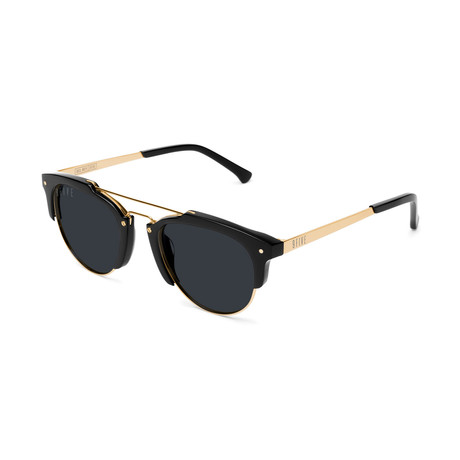 Unisex Del Rey Sunglasses // Black + Gold