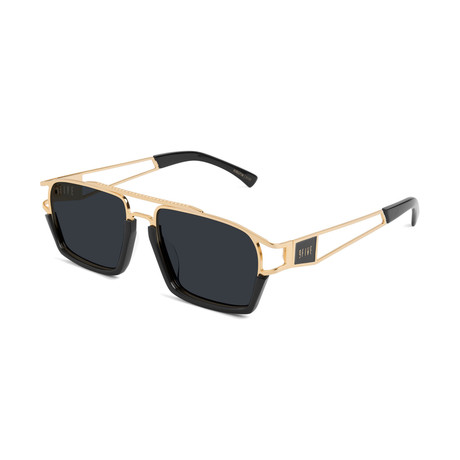 Unisex Kingpin Sunglasses // Black + Gold