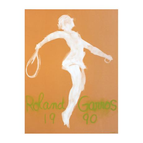 Claude Garache // Roland Garros French Open // 1990 Lithograph