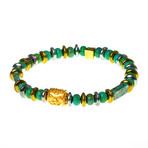 Dell Arte // Hematite + Randel Bead Bracelet // Turquoise
