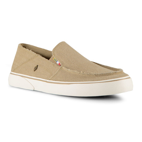 Bay Slip-On // Tan + Off White (US: 7)