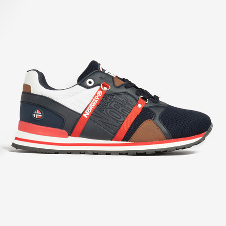 Cole Sneaker // Navy + Red (Men's Euro Size 40)