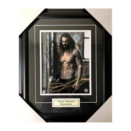 Jason Momoa // Framed Autographed Display // Aquaman