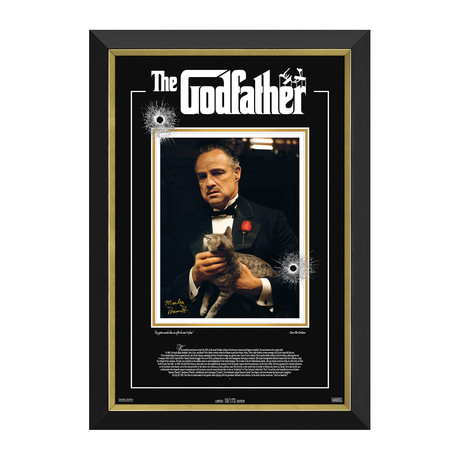 Marlon Brando // The Godfather // Limited Edition Facsimile Signature Display